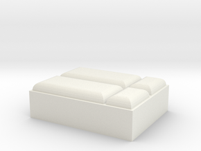 Bett HO 1:87 in White Natural Versatile Plastic