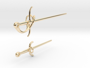 Rapier and Dagger (17th C. sword) earrings in 14K Yellow Gold