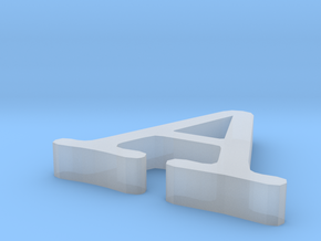 Letter A in Smooth Fine Detail Plastic