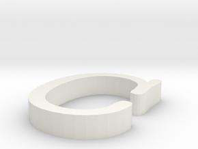 C Letter  in White Natural Versatile Plastic
