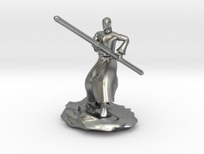 D&D Githzerai or Githyanki Monk Mini in Natural Silver