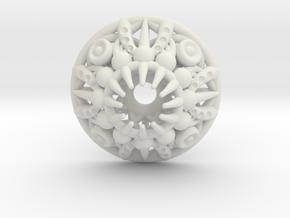 Mandala Pendant in White Natural Versatile Plastic