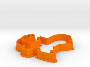 Charmander Cookie Cutter in Orange Processed Versatile Plastic