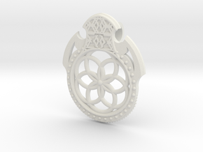 Seed Of Life Pendant in White Natural Versatile Plastic