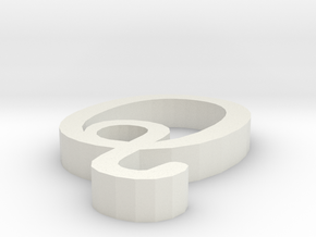 Q Letter in White Natural Versatile Plastic