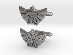 Legend of Zelda: Triforce Cufflinks in Natural Silver