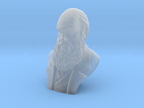 "Charles Darwin 3"" Bust in Smooth Fine Detail Plastic"