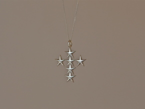 StarCross Medium Pendant in Natural Silver