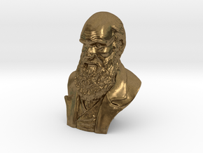 "Charles Darwin 2"" Bust in Natural Bronze"