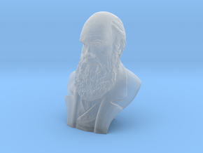 "Charles Darwin 2"" Bust in Smooth Fine Detail Plastic"
