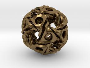 Aztec Ball Pendant 28mm in Natural Bronze