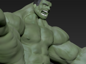 Hulk figure with nice details in White Natural Versatile Plastic