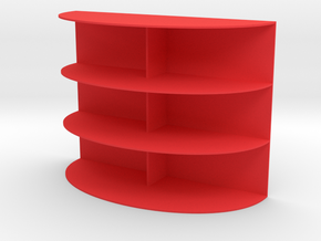 Shelving for dolls house (1:12) in Red Processed Versatile Plastic