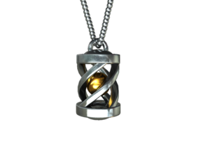 "Necklace ""Eternal Light"" in White Strong & Flexible"