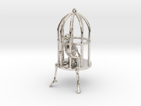 Gibbet Pendant/Earring in Platinum
