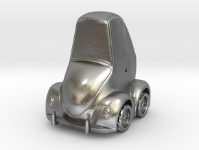 Beetle Bug in Natural Silver