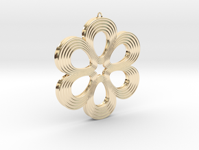 Flower Pendant 01 in 14K Yellow Gold