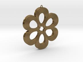 Flower Pendant 01 in Natural Bronze