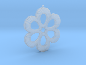 Flower Pendant 01 in Smooth Fine Detail Plastic