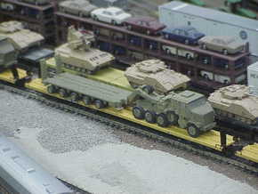 HETS M1070 / M1000 Truck & Trailer 1/160 / N-Scale in Smooth Fine Detail Plastic