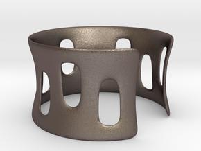 Bracciale001 in Polished Bronzed Silver Steel
