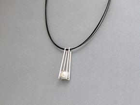 GeometricTrapeze Pendant: Precious Metal Geometry in Premium Silver