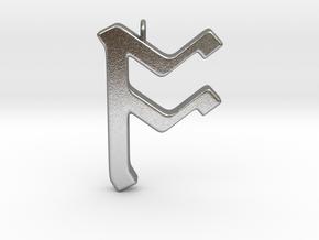 Rune Pendant - Ōs in Natural Silver