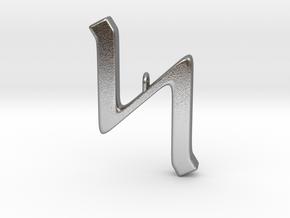 Rune Pendant - Sigel in Natural Silver