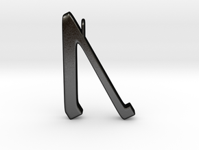 Rune Pendant - Ūr in Matte Black Steel