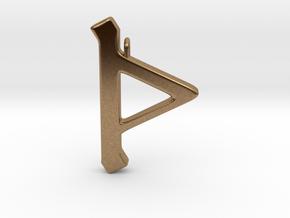 Rune Pendant - Þorn in Natural Brass