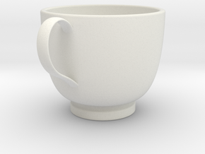 Turkish Coffee Cup in White Natural Versatile Plastic