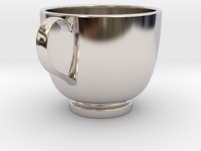Turkish Coffee Cup in Platinum