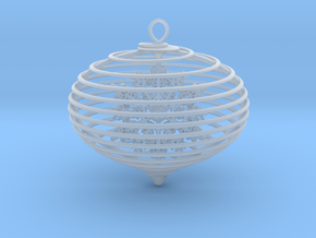 Spiral christmas ball with snowflake in Smooth Fine Detail Plastic