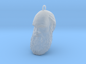 """Charles Darwin 1"""" Head, Pendant, Ear Ring, Charm,  in Smooth Fine Detail Plastic"""