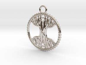 Tree Of Life Pendant in Platinum