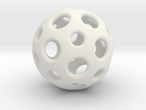 Little Dome in White Natural Versatile Plastic