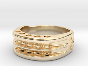 US12 Ring XI: Tritium in 14K Yellow Gold