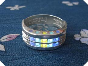US12 Ring XI: Tritium in Polished Silver