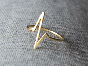 Heartbeat Ring in Polished Brass: 8.5 / 58