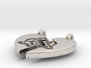 Heart Pendent (Sisters Bond Celtic) in Platinum