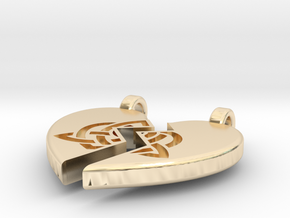 Heart Pendent (Sisters Bond Celtic) in 14K Yellow Gold