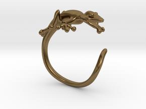Gekko Wraparound Ring in Natural Bronze