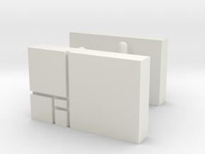 Golden Rectangle Cufflinks in White Natural Versatile Plastic