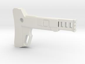 Combat Action Shoulder Stock (Long) in White Natural Versatile Plastic