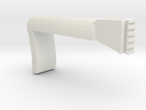 Papoose Shoulder Stock (Long) in White Natural Versatile Plastic