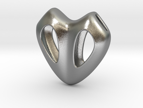 Cuore Hollow in Natural Silver