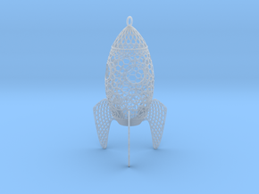 Rocket Filigree Ornament in Smooth Fine Detail Plastic