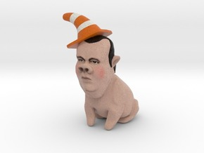 Chris Christie the Gestation Pig inaction figure S in Full Color Sandstone