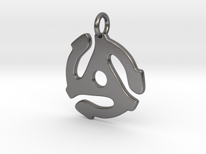 45 Rpm Pendant in Polished Nickel Steel