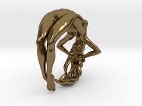 Nude Woman Ring in Polished Bronze: 9 / 59